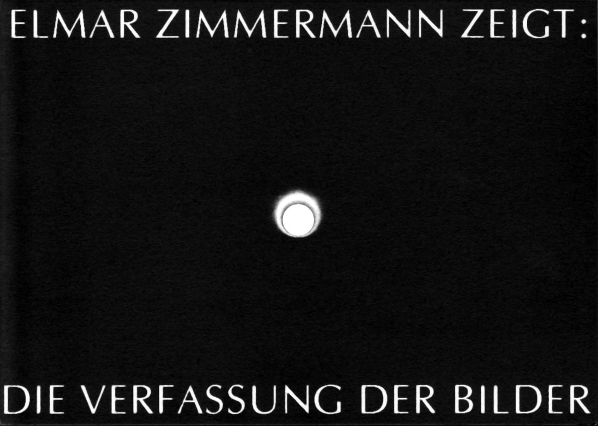 Elmar Zimmermann - Die Verfassung der Bilder